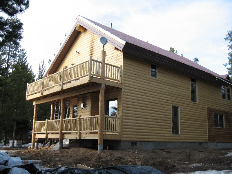 The rear of island park cabin rental